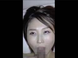 【無修正・個人撮影】不倫交際してる人妻のフェラ顔をスマホで主観撮影!ドエロいフェラテク見せる情事映像の画像