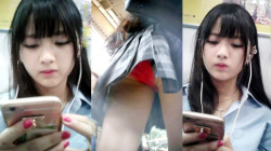 【upskirt611逆さ撮りJK】赤Pを撮るより顔撮りの方が長いが納得するほどに美少女なちょっとエッチなJKをたっぷりと堪能する動画の画像